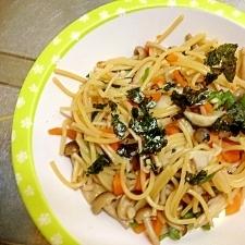 【幼児食】和風きのこスパゲティ