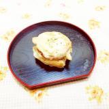 オリーブ風味♪さつまいもの天ぷらチーズトースト