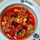 節約、簡単!冷凍サラダ豆でトマト煮込み