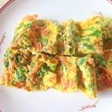 ルクエで~さくらエビとみず菜の卵焼き