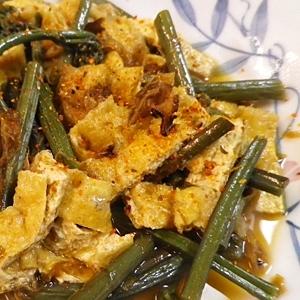 わらびと油揚げの簡単煮物