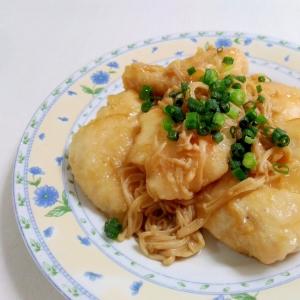 鶏むね肉で☆鶏肉とえのきのバターしょうゆ炒め