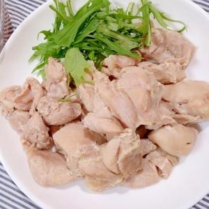 鶏もも肉で茹で鶏(圧力鍋)