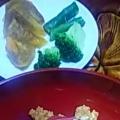 ブロッコリーとトマトと柿のサラダ