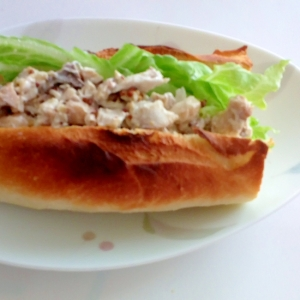 煮魚マヨマスタードサンド