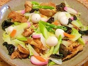 揚げ麩と白菜の中華旨煮