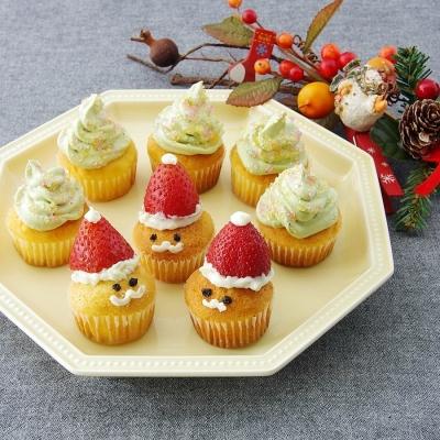 可愛い♪喜ばれるクリスマススイーツは市販のカップケーキで簡単に出来た