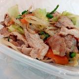 豚肩肉とミックス野菜の和風炒め