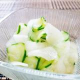 簡単、節約、即席料理!冬瓜とキュウリの酢の物