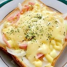 体に良い朝食にしませんか?新玉葱でトースト☆