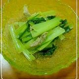 マスタードが決め手小松菜の炒め物