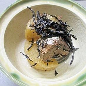 フライパンで煮込む♪大根の鯖水煮炊き