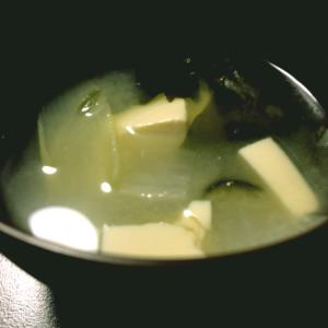 わかめ大根ねぎ豆腐の味噌汁