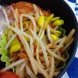 【おべんとう】豆もやしとオキアミの炒めもの