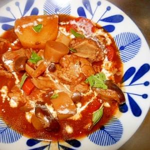 お肉なしで☆きのこと野菜のデミグラスソース煮