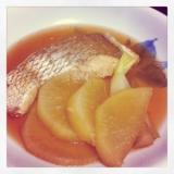 のど痛のときに♡お魚と大根の煮物♡