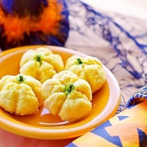 HMで簡単ハロウィン南瓜メロンパン風ソフトクッキー
