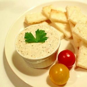 クリームチーズとツナのパテ風ディップ
