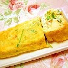 塩麹de❤葱と桜海老の卵焼き❤
