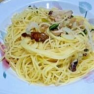セロリとツナのマヨネーズスパゲティ