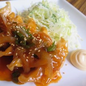 餃子でアレンジ♪焼き餃子の生姜焼き