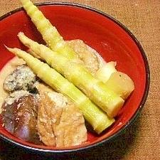 根曲り筍の味噌炊き