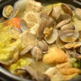 冬に美味しい♪材料入れるだけのあさり鍋