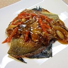 白身魚の塩麹甘酢あんかけ