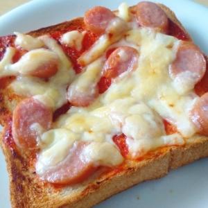 専用ピザソースが無くてもできる即席ピザ風トースト