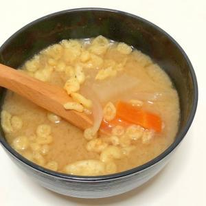 根菜と天かすのお味噌汁♪