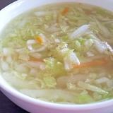 ぽかぽか温まる★白菜たっぷりトロトロスープ