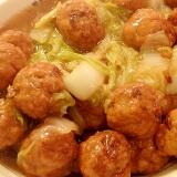 おから肉団子と白菜の煮物