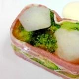 里芋とブロッコリーのテリーヌ マヨポンソース添え