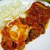 作り置き(/・ω・)/☆③トマト煮込みハンバーグ