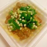 夏にぴったり♪ねばねば♪おくらと納豆の生姜風味