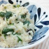 妊婦食に⭐ホタテとほうれん草のチーズリゾット