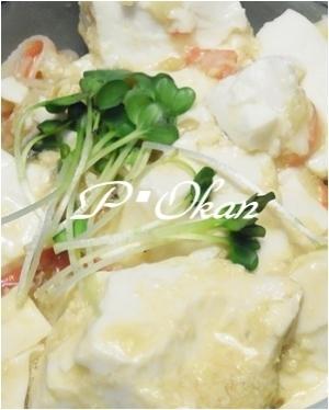お助けメニュー☆豆腐とカニカマのあんかけ丼