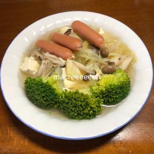 野菜ときのことウインナーのコンソメスープ