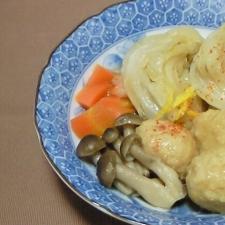 キャベツと鶏団子の和煮