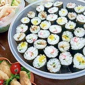 運動会のお弁当に☆細巻3種