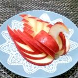 華やかな りんごの切り方(鳥・スワン)