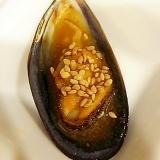 ムール貝のトリプルごま風味