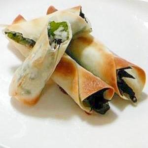 パリパリ白身魚のシソ巻き