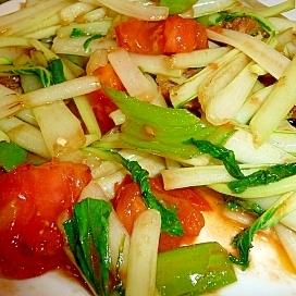 小松菜とトマトの中華サラダ