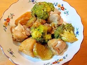 鶏もも肉とブロッコリーの醤油マヨ炒め