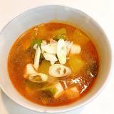 ピリッと辛くして☆冬瓜とキャベツの豆腐チゲ