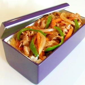 野菜と豚肉の生姜焼き弁当