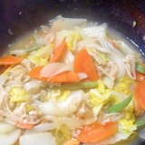 海老とムール貝と野菜の中華塩炒め