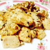 豆腐のマヨたま炒め❤︎