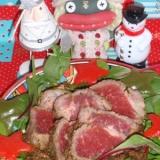 フライパンで作るクリスマスのローストビーフ
